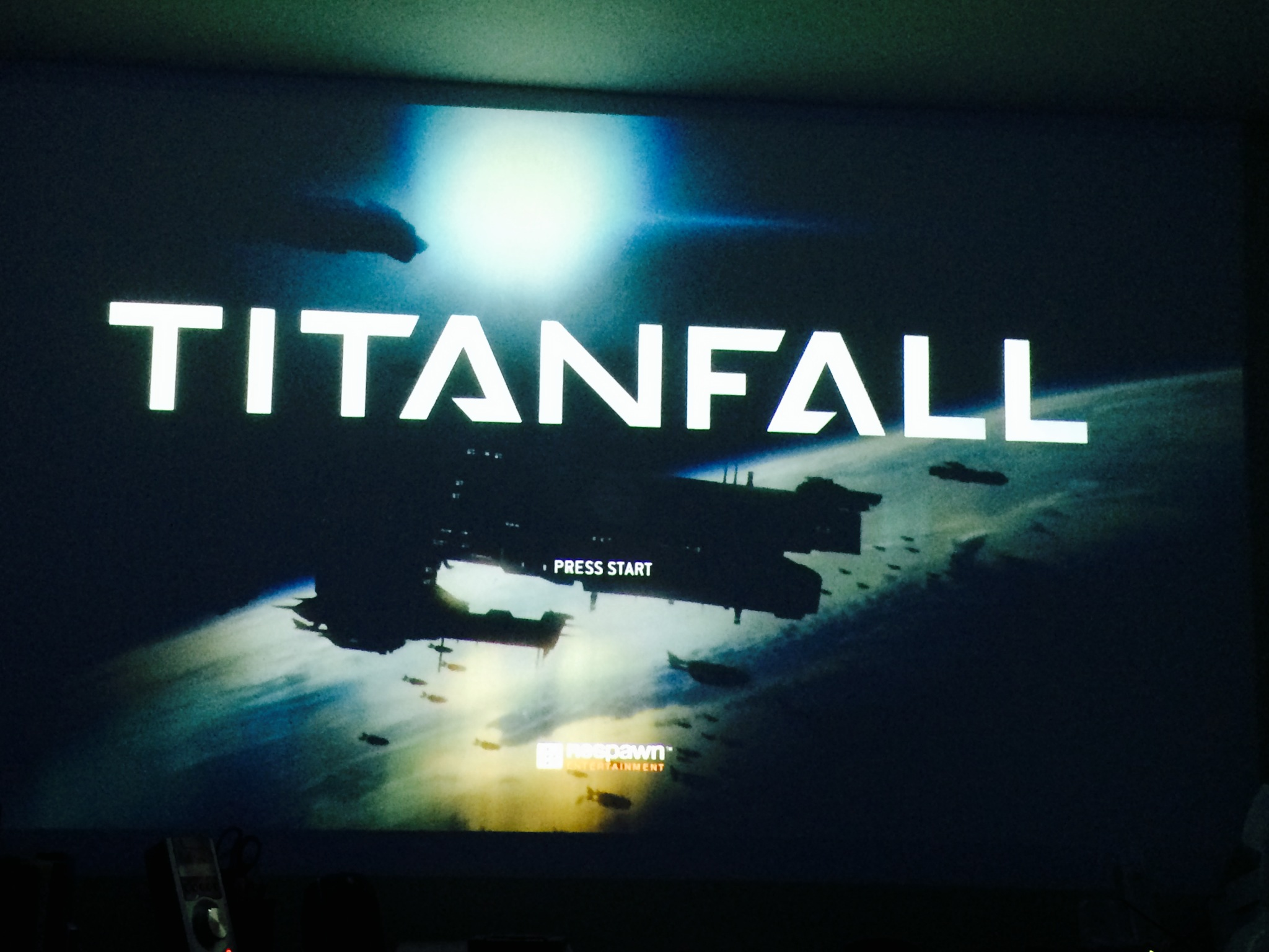 The Titanfall Intro Screen
